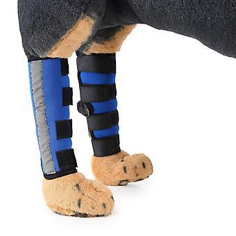 Mimigo Strip-Paar Hund Hinterbein Orthese Canine Hintere Hock Gelenkstütze Mit Sicherheit Reflektierende Gurte Für Gelenkverletzungen und Verstauchung Schutz, Wundheilung