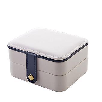 Swotgdoby صندوق المجوهرات، وعلبة تخزين مصغرة للخواتم الأقراط قلادة، هدية الفتيات
