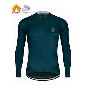 Winter Fleece 2021 Men Holding Warm Cycling Jersey Set Mountian Bicycle Clothes Wearing Ropa Ciclismo Racing Bicycle Clothing Cycling Set