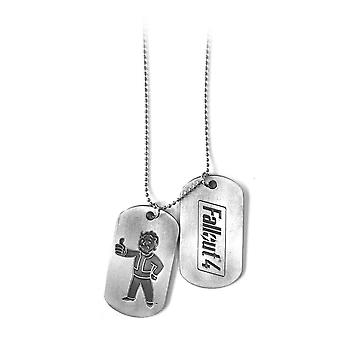 Fallout 4 Unisex Vault Boy Thumbs Up Dogtags One Size zilver/metaal (JE270801FOT)