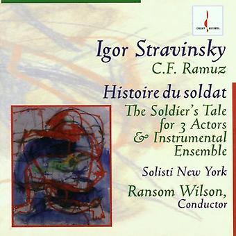 I. Stravinsky - Stravinsky: Histoire Du Soldat [CD] USA import