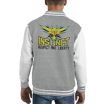 Team Instinct Pokemon Go Kid's Varsity Jacket