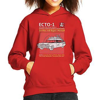 Ghostbusters Ecto1 Service And Repair Manual Kid's Hooded Sweatshirt