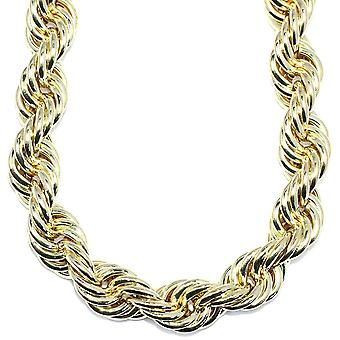 18k Gold Plated Jumbo Hip Hop Rope Chain 20mm x 30 inches long