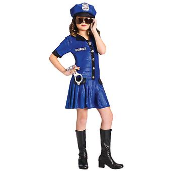 Police Chief Officer Cop Uniform Dress Up Girl Costume
