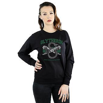 Harry Potter Frauen Slytherin Quidditch Emblem Sweatshirt