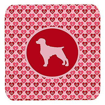 Carolines Treasures  SDK1017-A-FC Set of 4 Boykin Spaniel Valentine Hearts Foam