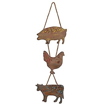 A & B Home 42089 10x35.5 Inch Farm Animals Wall Art