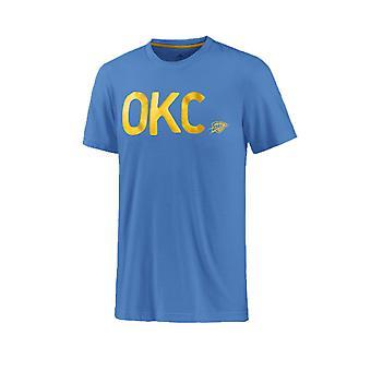 Adidas NBA-basket Oklahoma Thunder T-shirt Male blå