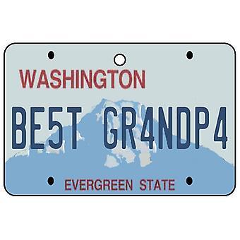 Washington - beste bestefar lisens Plate bil Air Freshener