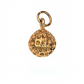 9 قيراط الذهب عيار 9 ملم الصلبة قلادة الكرة في ملعب أو سحر