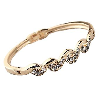 Womens Gold Wave Twist armband armband armband