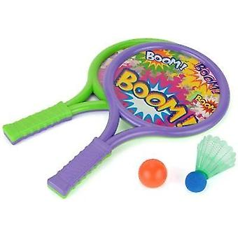 Toyrific Boom morcegos definido com bola e peteca
