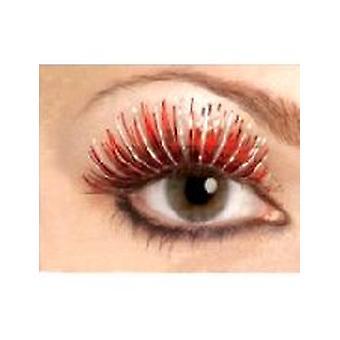 Metallische Wimpern - rot und Silber - enthält Leim