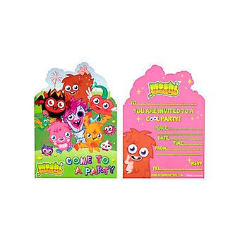 Moshi Monsters Party Invitation Cards