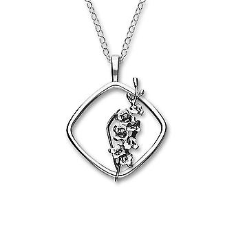 Sterling Silver Traditional Scottish August Gladiolus Birth Flower Hand Crafted Necklace Pendant