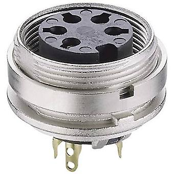 Lumberg KGV 30 DIN connector Socket, verticale verticale aantal pins: 3 Silver 1 PC('s)