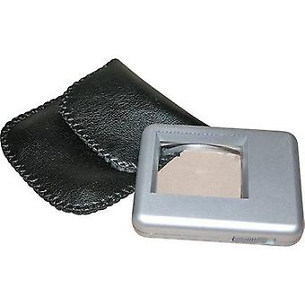RONA 450510 Reading magnifier incl. light Lens size: (L x W) 38 mm x 30 mm Silver