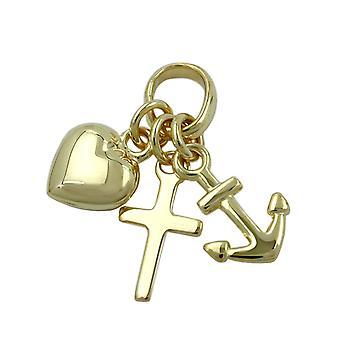 Вера Кулон Любовь надежда 375 золотой кулон вера любовь надеюсь 9 KT