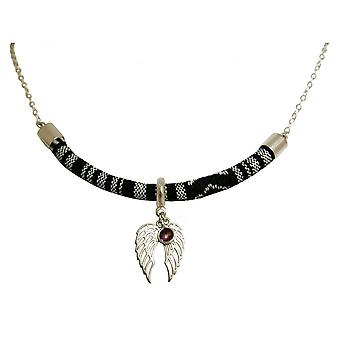 Ladies - necklace - pendant - 925 Silver - AZTEC - BOHO - double wing - Amethyst - violet