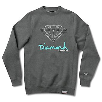Diamond Supply Co. Og signe Crewneck Charcoal Heather