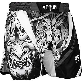 Venum Devil Lightweight MMA Fight Shorts - White/Black