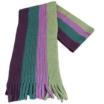 Bassin en bruin Dean gestreepte sjaal - groen/paars