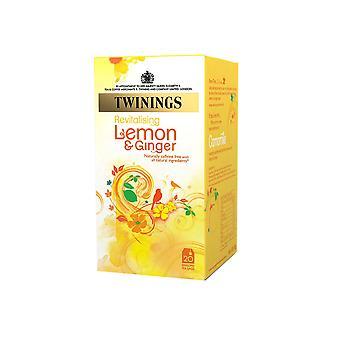 Twinings Lemon & Ginger Enveloped Tea Bags