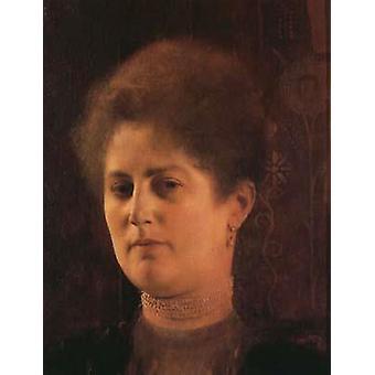 Portrait of a Lady (Frau Heymann) around, Gustav KLIMT, 39x23cm