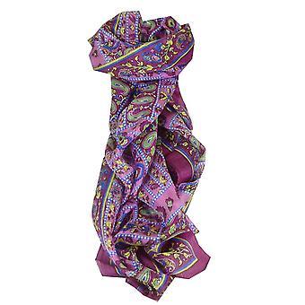 Amoreira cachecol longo tradicional Chenab cravo por Pashmina & seda