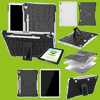 Für Apple iPad Pro 11.0 Zoll 2018 / iPad Air 2020 4. Gen Hybrid Outdoor Schutzhülle Weiß Tasche + 0.4 H9 Schutzglas