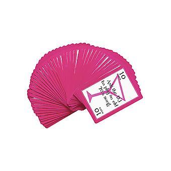 Atreves de la actividad de juego de cartas - baraja de 52