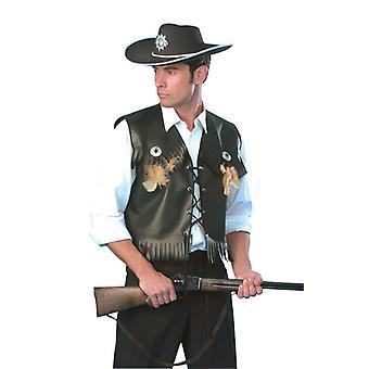 Cowboy Waistcoat (Black).