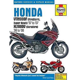 Honda VTR1000F (Firestorm, Superhawk) & XL1000V manuel de réparation et de Service (Varadero): 1997-2008 (Haynes Service...