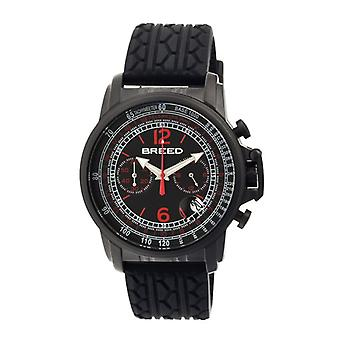 Breed Nash Chronograph Men's Watch w/ Date-Black