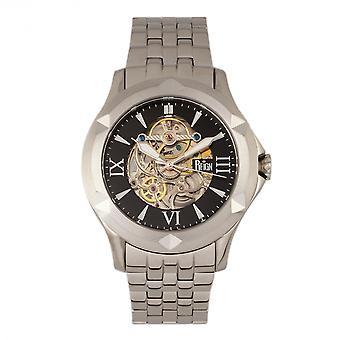 Reign Dantes Automatic Skeleton Dial Bracelet Watch - Silver/Black