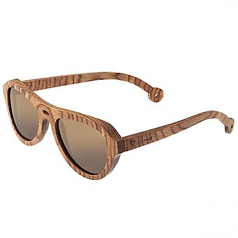 Spectrum Marzo Wood Polarized Sunglasses - Brown/Brown