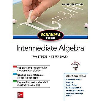 Schaum de omtrek van de tussenliggende Algebra, derde editie
