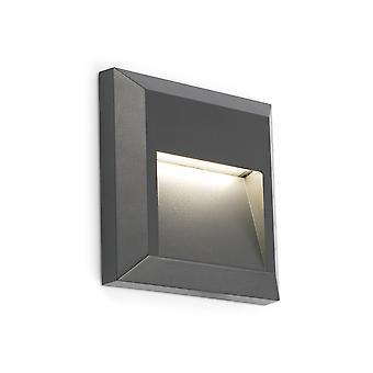 Faro - quadrato grigio scuro di Grant ha portato FARO70655 luce parete esterna