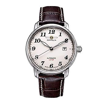 Zeppelin Analog Automatic men's watch with leather band _ 76565