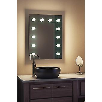 Diamond X Wallmount Hollywood Audio Mirror, k90CWaudbath di Dimmable LED
