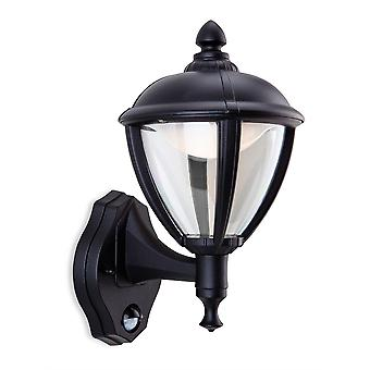 Firstlight-LED ulkoseinän lyhty, PIR musta IP44-5941BK