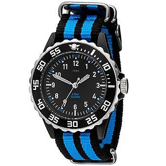 JOBO children wrist watch quartz analog black blue children watch