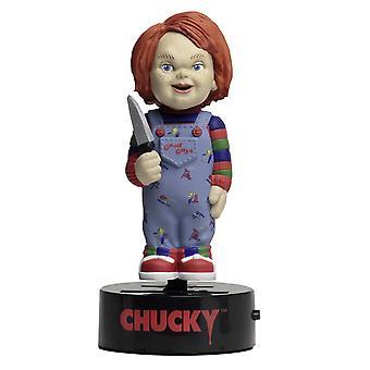 Chucky Child ' s Joaca Body Knocker Chucky balansoar figura din plastic, alimentat solare.