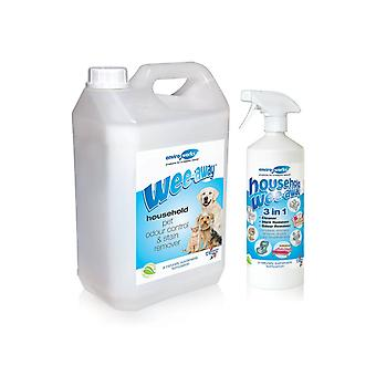 Wee Away Stain and Odour Remover Probiotic 1L + 5L Refill bottle