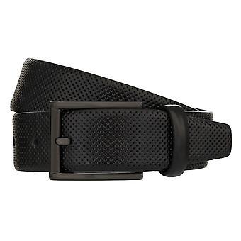 MONTI DUBLIN Belt Men's Belt Leather Belt Black 8037
