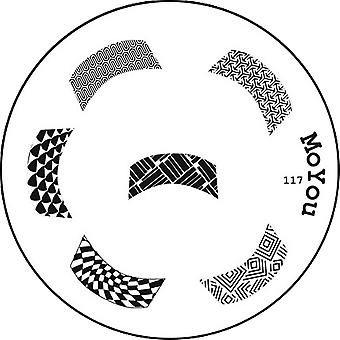 MoYou Round Stamping Nail Art Image Plate - French Manicure Pattern - 117