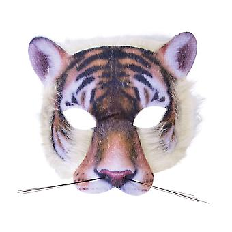Bristol Novelty Unisex Realistic Fur Tiger Face Mask