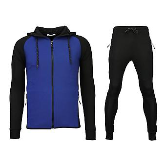 Trainingspakken Windrunner Basic Ribbed - Zwart / Blauw