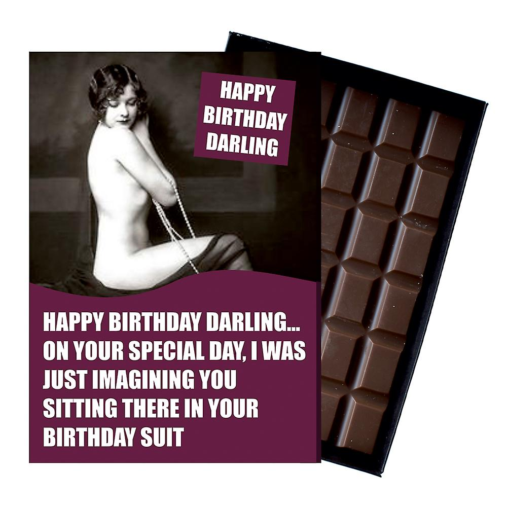 Funny Birthday Gift For Women Girlfriend or Wife boxed Chocolate Greeting Card Present CDL217